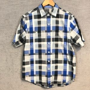 TOMMY BAHAMA mens Shirt blue plaid size small $98